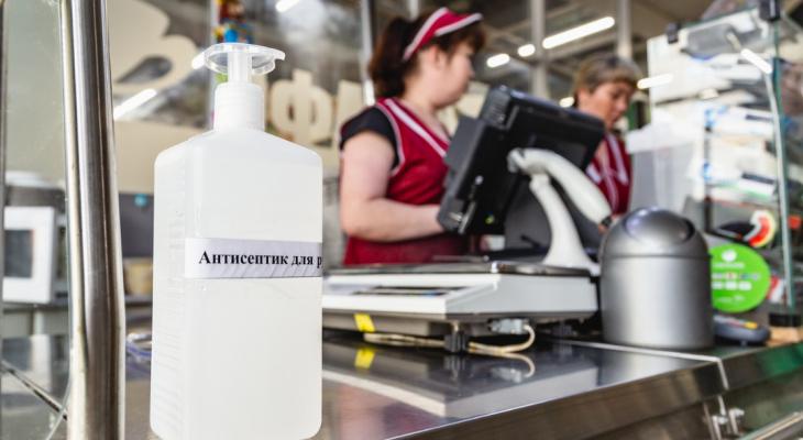 Антисептики на рынке, замеры температур: борьба с коронавирусом в Дзержинске