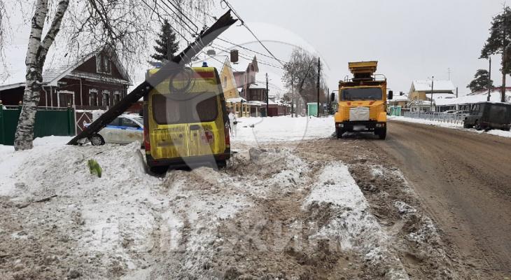 ДТП со скорой и трактором произошло в Пушкино